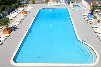 Outdoor pool aerial